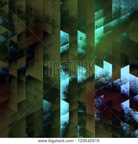 abstraction geometry with incredible colors, texture new generation modern art, relief angles and quadratic and triangle shapes vision, stylish background cover design, modern art geometry