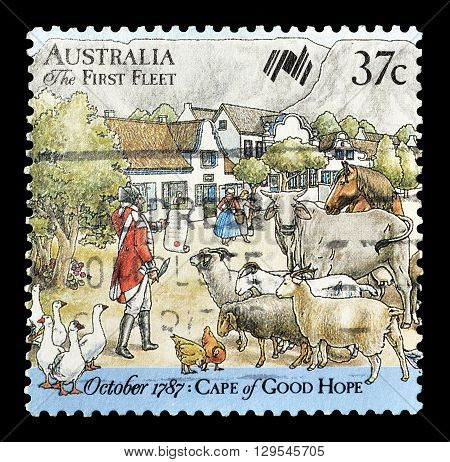 AUSTRALIA - CIRCA 1987 : Cancelled postage stamp printed by Australia, that shows Cape of good hope.