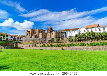 Qurikancha in Cusco the most important temple in the Inca Empire