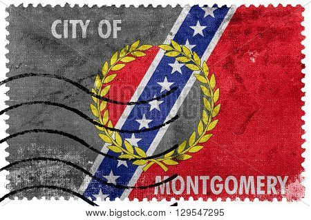Flag Of Montgomery, Alabama, Old Postage Stamp