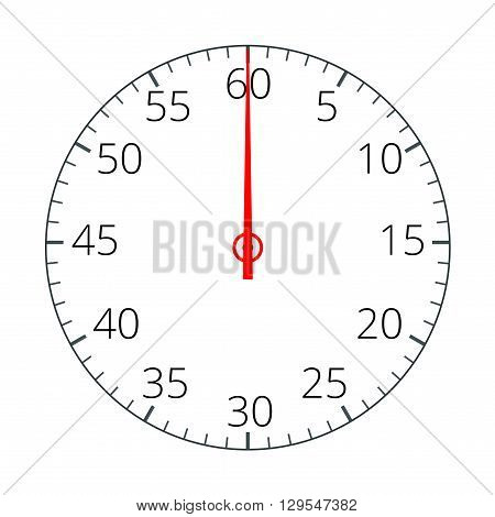 Stopwatch. Stopwatch Icon. Stopwatch icon flat.  Flat 3d vector illustration