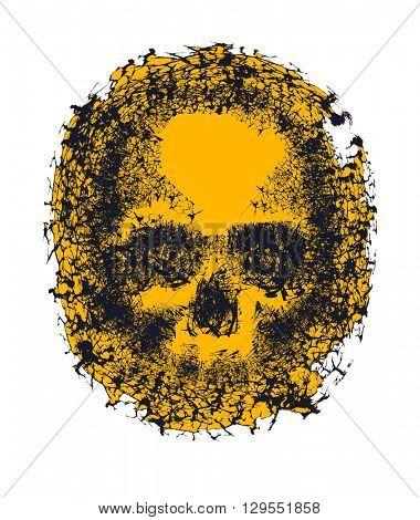 Stylized Skull. Hand drawn. Jpeg version.