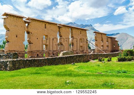 Temple of Wiracocha located in the Inca site of Raqchi very close to the small village of San Pedro de Cacha in Peru