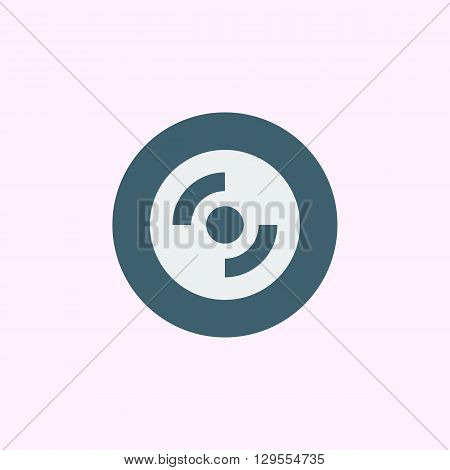 Cd-rom Icon In Vector Format. Premium Quality Cd-rom Symbol. Web Graphic Cd-rom Sign On Blue Circle