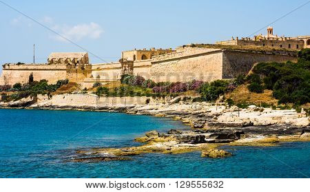 view on Valletta from sea