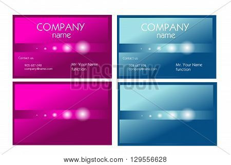 Set of two business cards in two colors