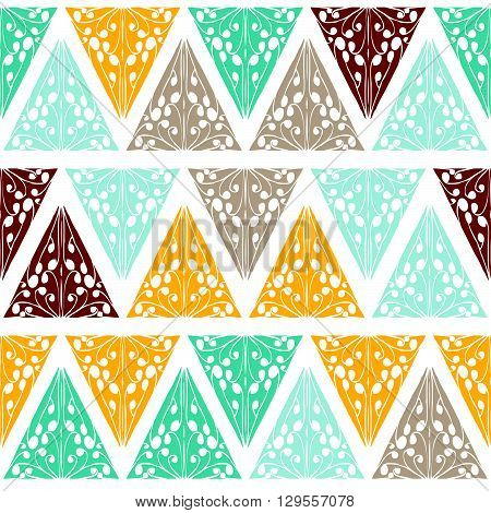 Abstract Colorful Ethnic Background In Retro Style.