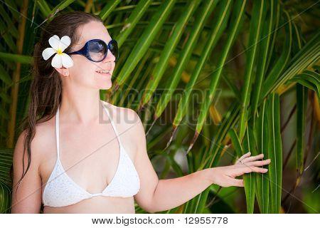 Portrait Of Beautiful Woman In Sun Glasses