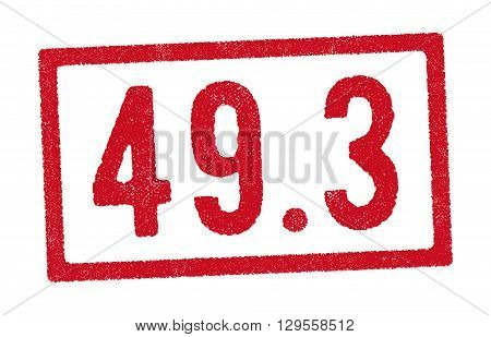 Vector illustration of red stamp of the article 49.3 French constitution