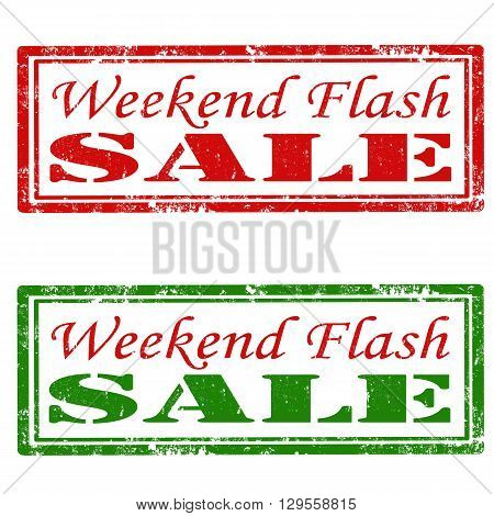 Set of grunge rubber stamps with text Weekend Flash-Sale,vector illustration
