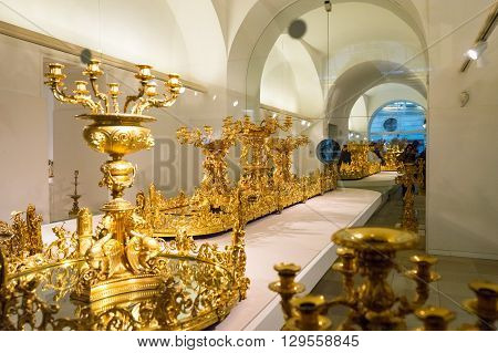 Vienna Austria - December 29 2013: The Hofburg the imperial furniture collection