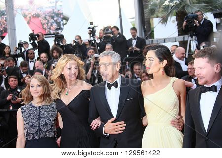 Jodie Foster, Julia Roberts, George Clooney  attends the 'Money Monster' Premiere during the 69th annual Cannes Film Festival on May 12, 2016 in Cannes, France.
