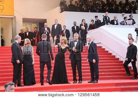 Jodie Foster, Julia Roberts, George Clooney  attend the 'Money Monster' Premiere during the 69th annual Cannes Film Festival on May 12, 2016 in Cannes, France.
