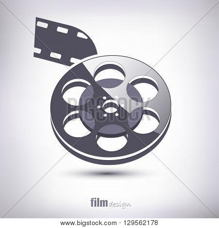 The bulk roll for cinema. gray shadow.