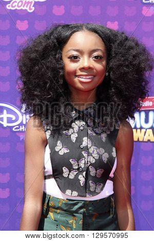 LOS ANGELES - APR 29:  Skai Jackson at the 2016 Radio Disney Music Awards at the Microsoft Theater on April 29, 2016 in Los Angeles, CA