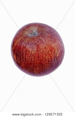 Stayman apple (Malus domestica Stayman). Called Stayman Winesap also. Image of single apple isolated on white background
