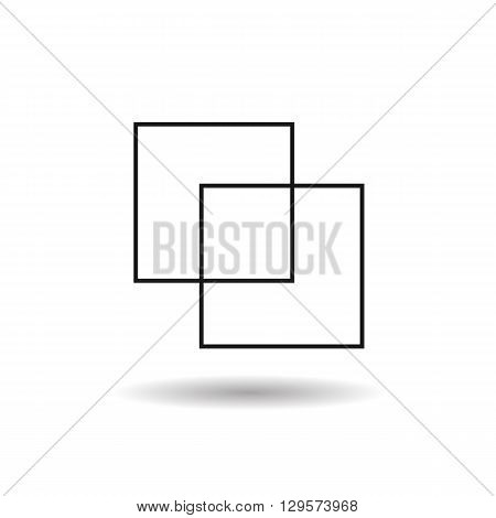 folder and file black web icon thin line illustration for mobile app color picture on a white background and shadow