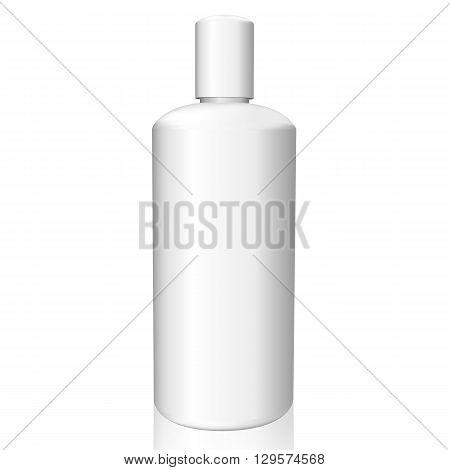 White Bottle On White Background