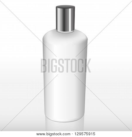 White Bottle With A Silver Cap
