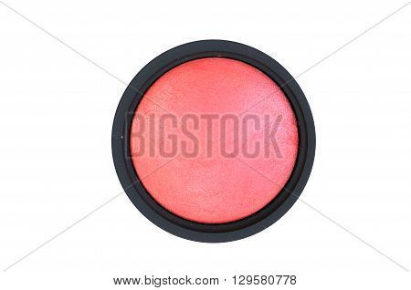 face powder blush isolated on white background