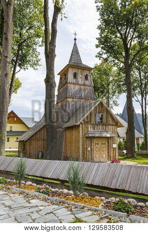 SROMOWCE NIZNE, POLAND - AUGUST 27: Historic church of Saint Catherine, built in sixteenth century on August 27, 2010 in Sromowce Nizne.