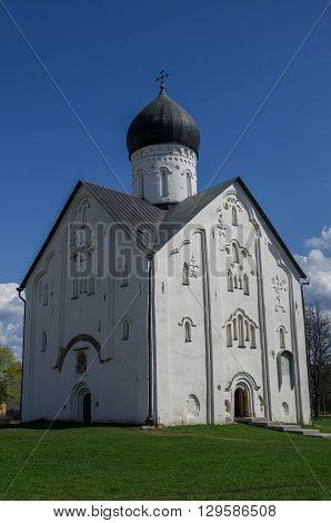 Old Russian Orthodox Church Of The Transfiguration On Ilyina Veliky Novgorod, Russia