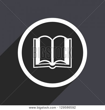 flat design book vector icon
