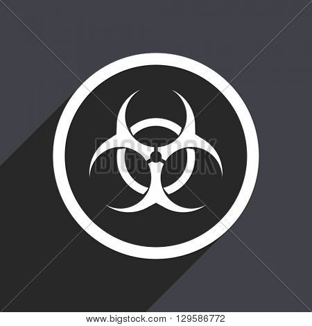 flat design biohazard vector icon