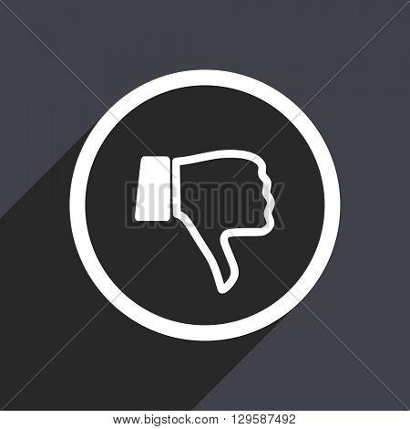 flat design  thumb down vector icon