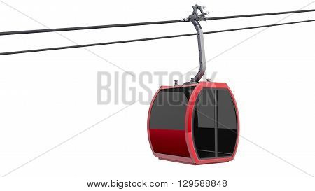 3D illustration of Cableway - Isolated on white