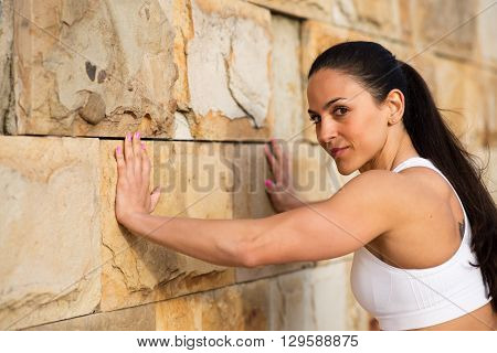 Fitness Strong Woman Working Out