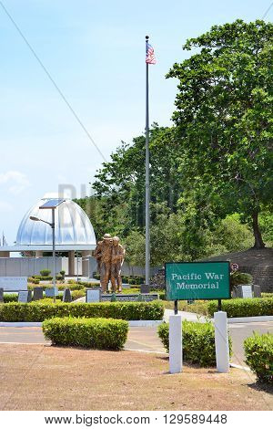 CORREGIDOR PHILIPPINES - APRIL 3 2016: Brothers in Arms Statue. Monument at the Pacific War Memorial on the island in Manila Bay.