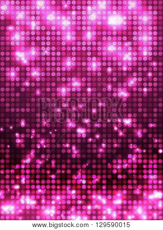 Pink Disco Mosaic Background