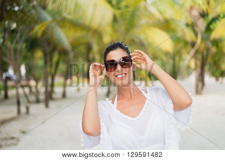 Woman On Tropical Vacation Travel