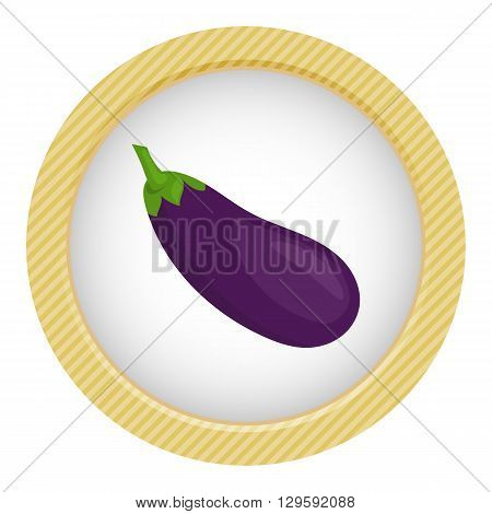 vector illustration of eggplant an a white background