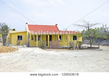 Old traditional arubean house on Aruba island in the Caribbean