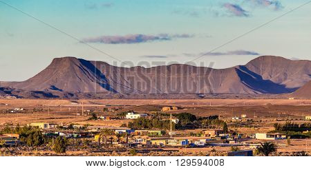 Typical Landscape In Fuerteventura Inland Canary Islands Spain