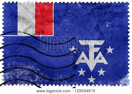 Flag Of The French Southern And Antarctic Lands, Old Postage Sta