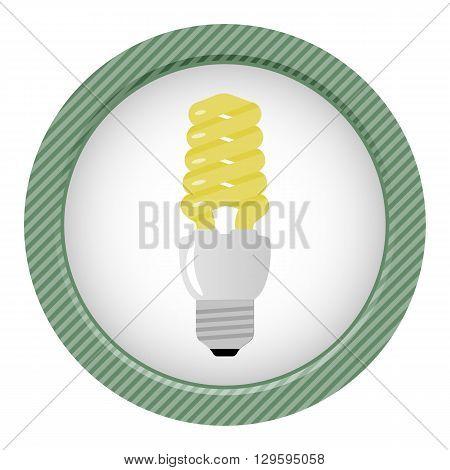 Light bulb colorful icon. Light bulb vector illustration
