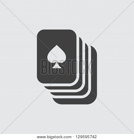 Playing cards icon illustration isolated vector sign symbol