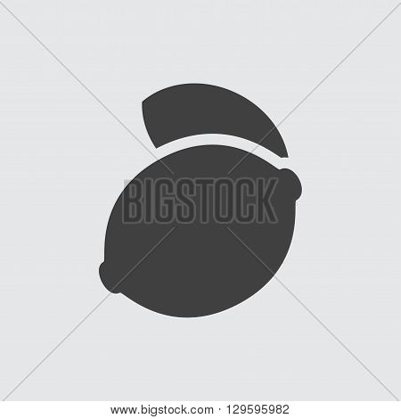 Lemon icon illustration isolated vector sign symbol