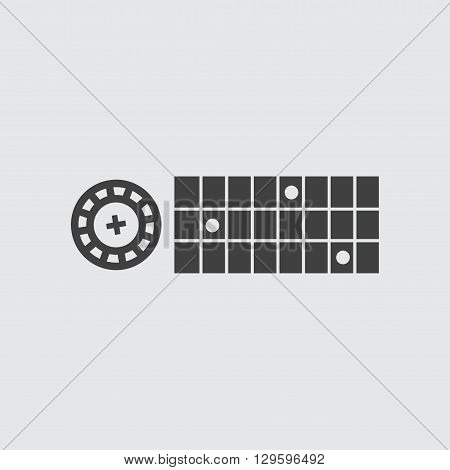 Roulette icon illustration isolated vector sign symbol