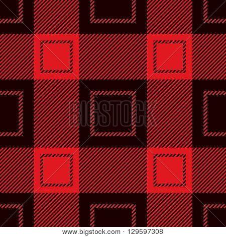 Seamless Tartan Pattern. Lumberjack Flannel Shirt Inspired. Trendy Hipster Style Backgrounds.