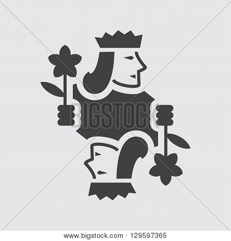 Jack playing card icon illustration isolated vector sign symbol