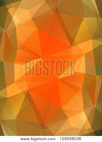 Orange topaz gem vector background. Bright polygonal transparent design for your business presentations, flyers, posters, banners, web page, advertisement, wrapping, printed products