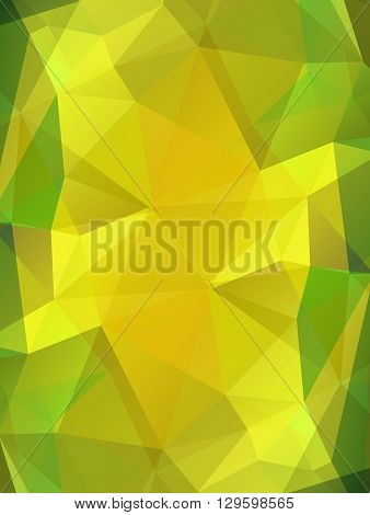 Yellow topaz gem vector background. Bright polygonal transparent design for your business presentations, flyers, posters, banners, web page, advertisement, wrapping, printed products