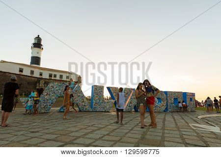 BAHIA, BRAZIL - CIRCA MAY 2016: Farol da Barra Light House in Salvador, Bahia, Brazil