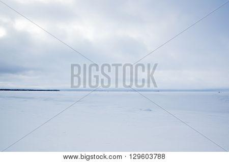 Finnish Gulf in winter Leningrad region Russia
