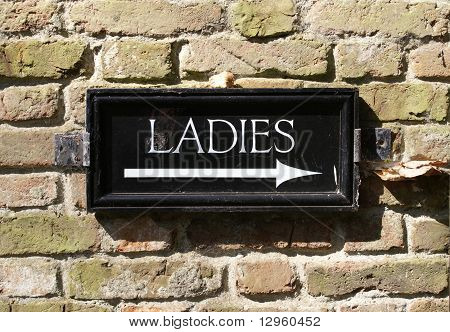 Signpost to public toilet