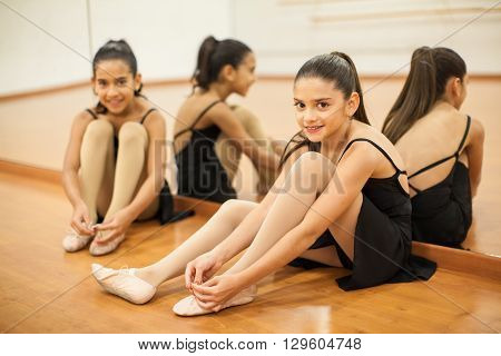 Little Dancers Getting Ready For Class